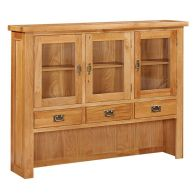 See more information about the Cotswold Oak Hutch For Large Sideboard