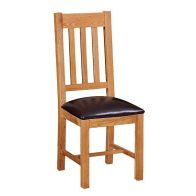 See more information about the Cotswold Oak Vertical Slat Dining Chair