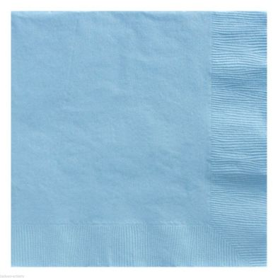 100 Pack Blue Serviettes