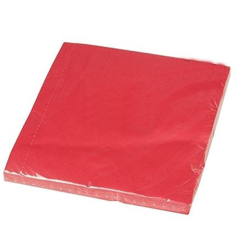 3 Ply Red Napkins (Pack Of 20)