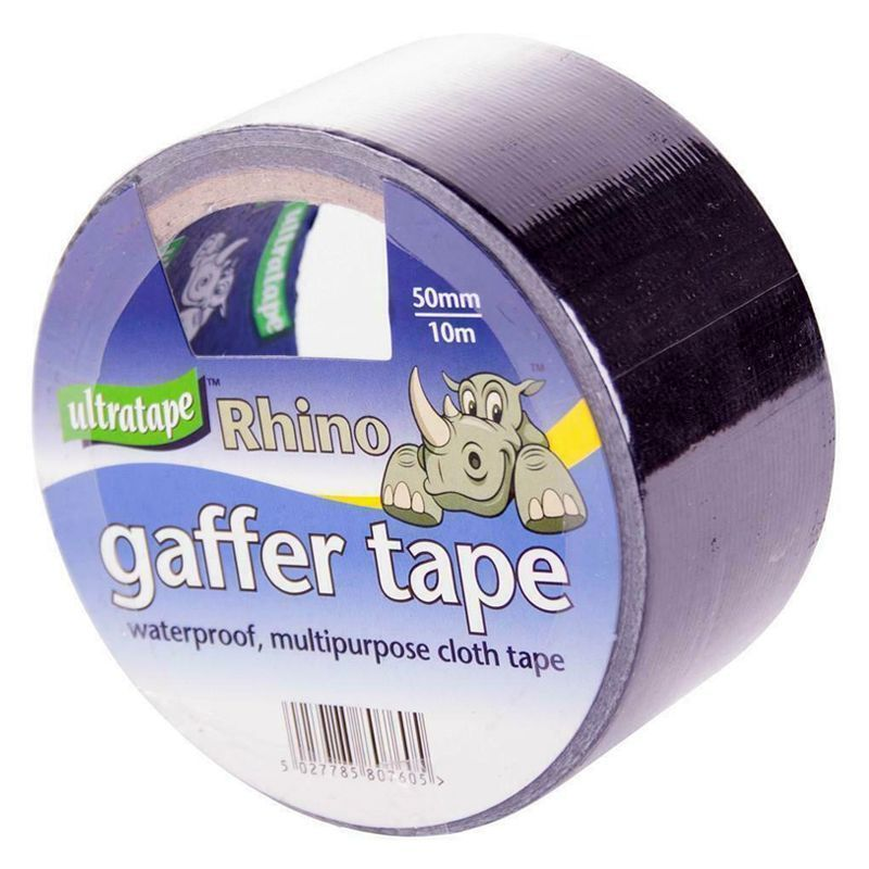 Ultratape Rhino Gaffer Tape 50mm x 10m - Black