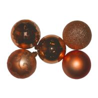 See more information about the 35 Christmas Tree Baubles (6cm) - Copper