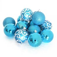 See more information about the 35 Pack of 6cm Christmas Tree Baubles Blue