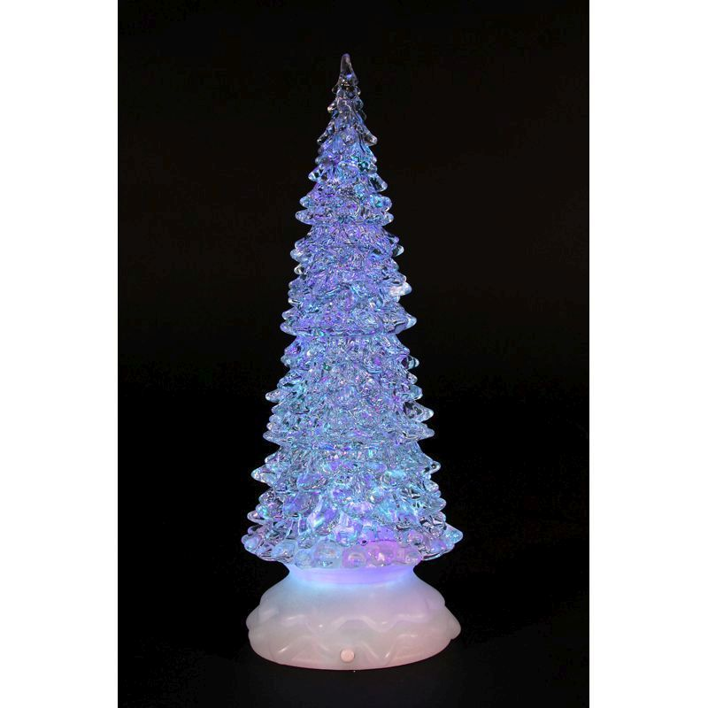 Christmas Light Up LED Tree With Water Inside (32cm)