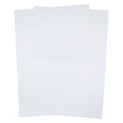 10 Sheets White A4 Size Pre-Creased Card
