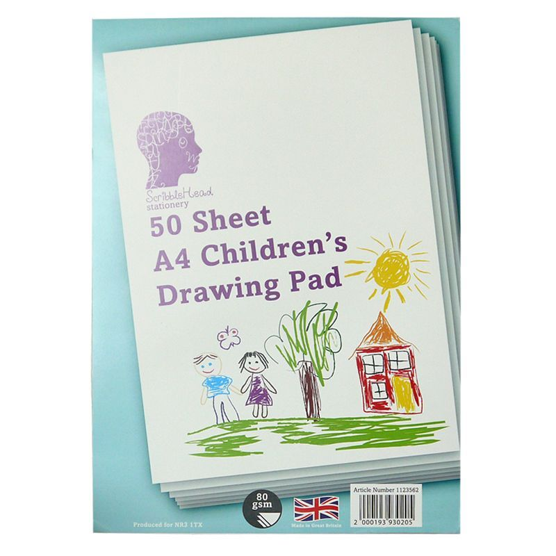 50 Sheets Children's Drawing Pad 80gsm Size A4