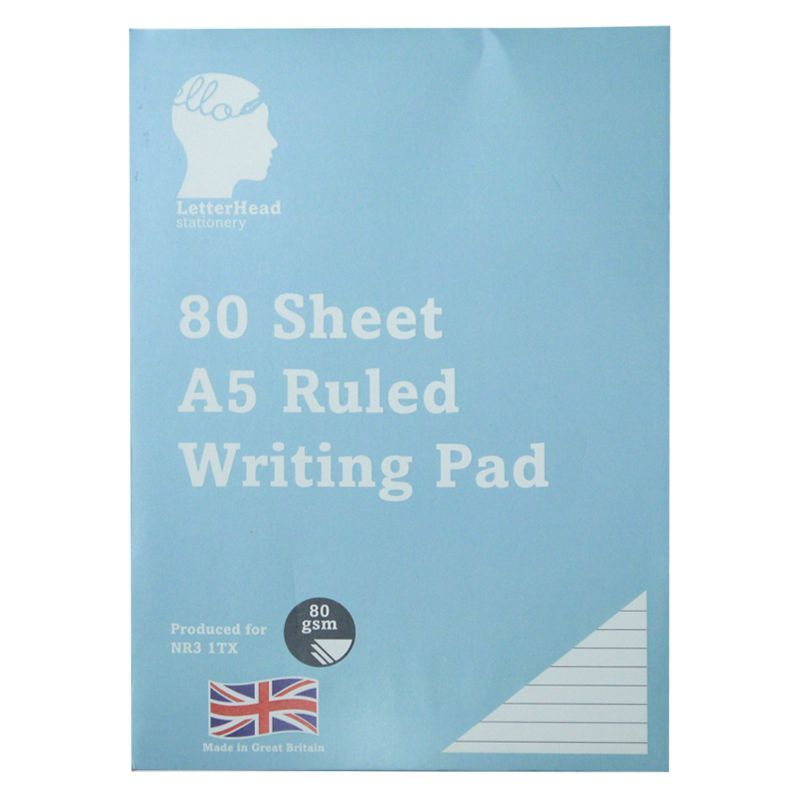 80 Sheets Ruled Writing Pad 80 gsm Size A5