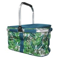 See more information about the Tropical Fresh Trug Cooler - Leaf Design Trug Beach Picnic Cooler