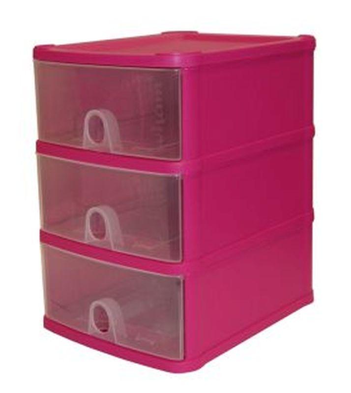 Handi 3 Drawer Plastic Storage Unit Fuschia  sc 1 st  QD Stores & Handi 3 Drawer Plastic Storage Unit Fuschia - Buy Online at QD Stores