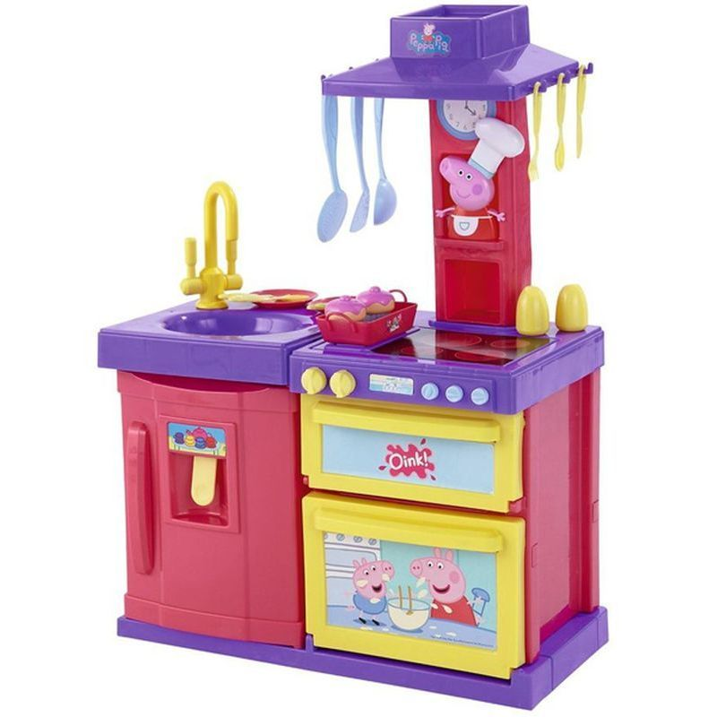 Peppa pig cook and play kitchen buy online at qd stores for Kitchen set game