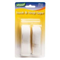 See more information about the Ultratape White Hook & Loop Tape 2 Lengths 1 metre x 20mm Wide - White