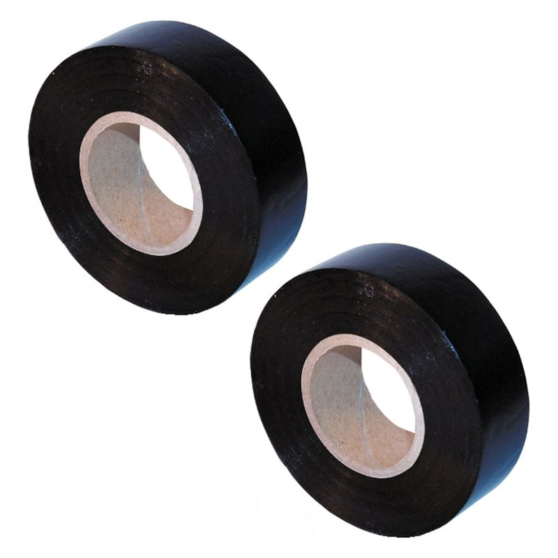 2 Pack Ultratape PVC Electrical Tape 25mm x 12m - Black
