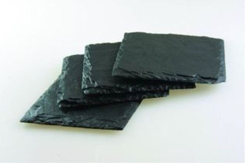 Set of 4 Square Slate Coasters