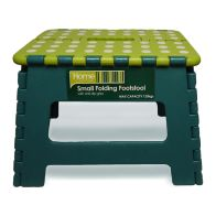 See more information about the Home Essentials Small Folding Stool - Green With White Spots