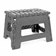 See more information about the Home Essentials Small Folding Stool - Grey With White Spots