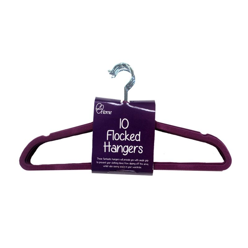 10 Pack of Hangers - Purple