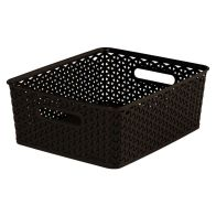 See more information about the 13L Curver My Style Rattan Basket - Dark Brown