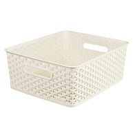 See more information about the 13L Curver My Style Rattan Basket Medium - White