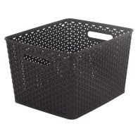 See more information about the 18L Curver My Style Rattan Basket - Dark Brown