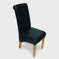 See more information about the London Wave Back Dining Chair Black & Faux Leather