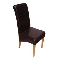 See more information about the Cotswold Oak London Dining Chair Brown