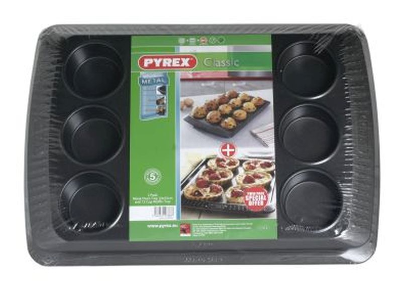 Pyrex Oven & Muffin Tray Set