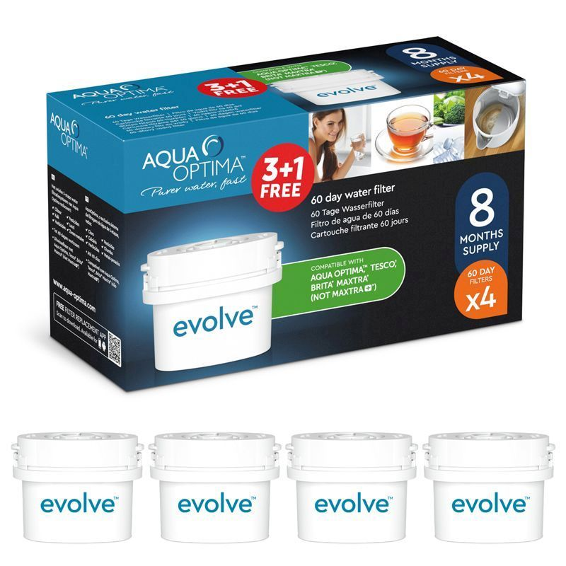 Aqua Optima Evolve 60 Day Water Filter 4 Pack (3+1 FREE)