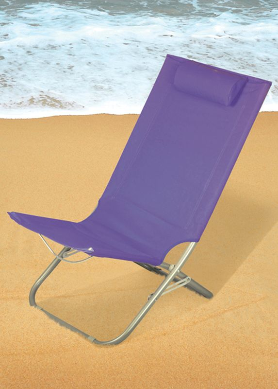Folding Beach Chair Purple Buy line at QD Stores