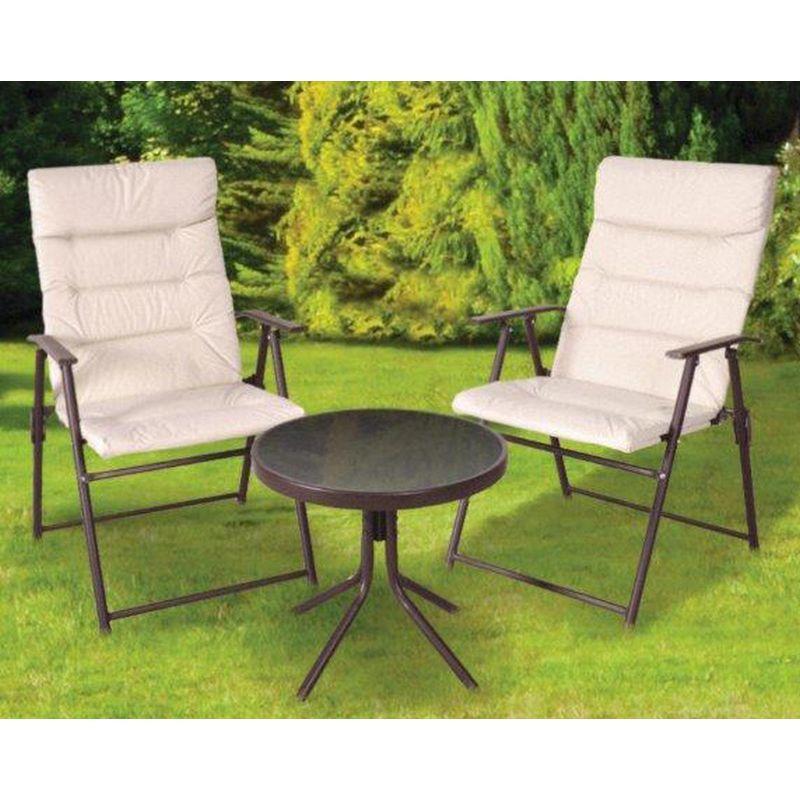 3 Piece Patio Furniture Set Genoa Range Buy line at QD Stores