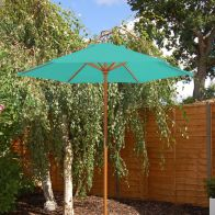 See more information about the Teal Wooden Parasol (2m)