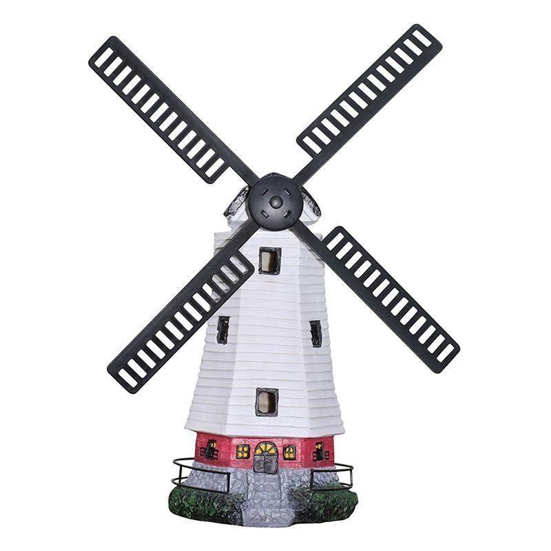 Bright Garden Solar Windmill Garden Ornament