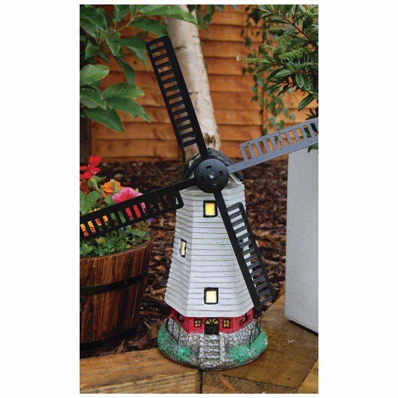 Bright garden solar windmill garden ornament buy online at qd stores bright garden solar windmill garden ornament workwithnaturefo