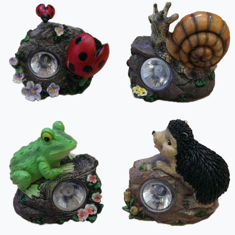 Garden Solar Light Snail on Rock