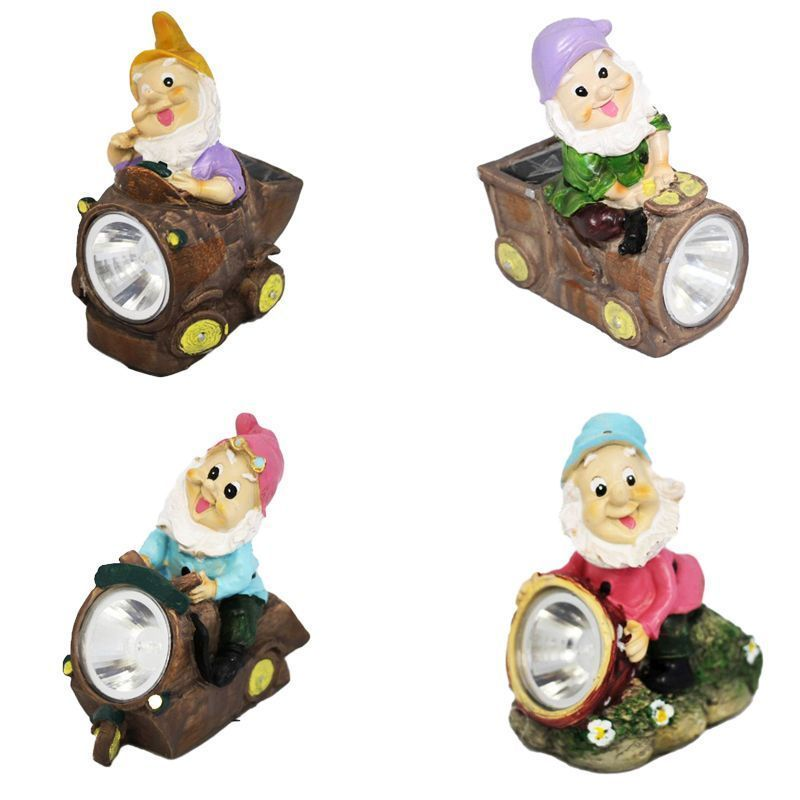 Garden Solar Light Lilac Gnome