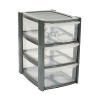 See more information about the 14L Premier 3 Drawer Plastic Storage Tower Clear & Grey