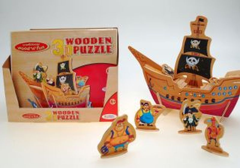 Wood 3D Puzzle Pirate