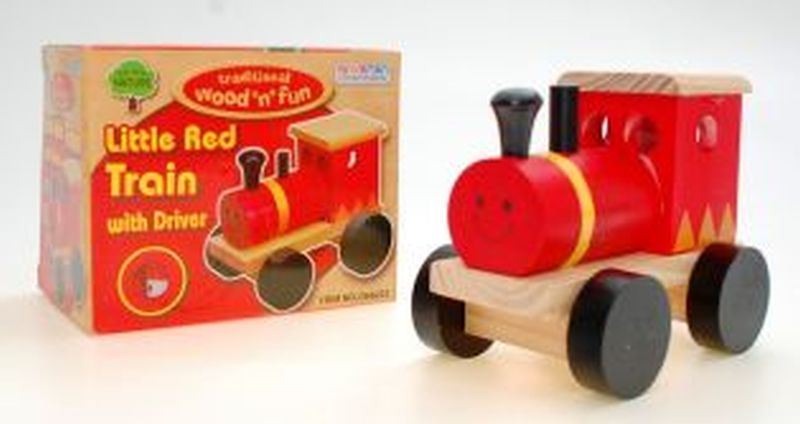 Wood Little Red Train
