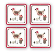 See more information about the Coasters Set of 4 Chicken