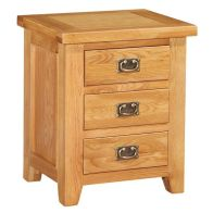 See more information about the Holkham Oak 3 Drawer Bedside (Mini Cotswold)