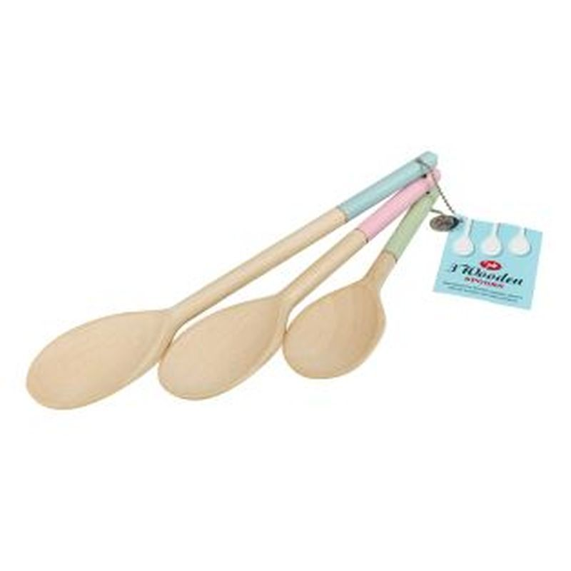 Coloured Wooden Spoons set of 3