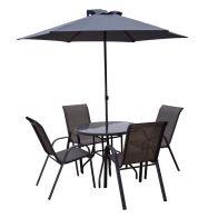 Avellino 6 Piece Textilene Garden Dining Set Buy Online At Qd Stores