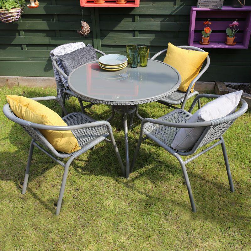 Garden Furniture Qd savona 5 piece rattan garden set - buy online at qd stores