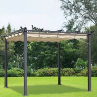 See more information about the Croft 3m x 3m Beige Pergola Summer Garden Gazebo