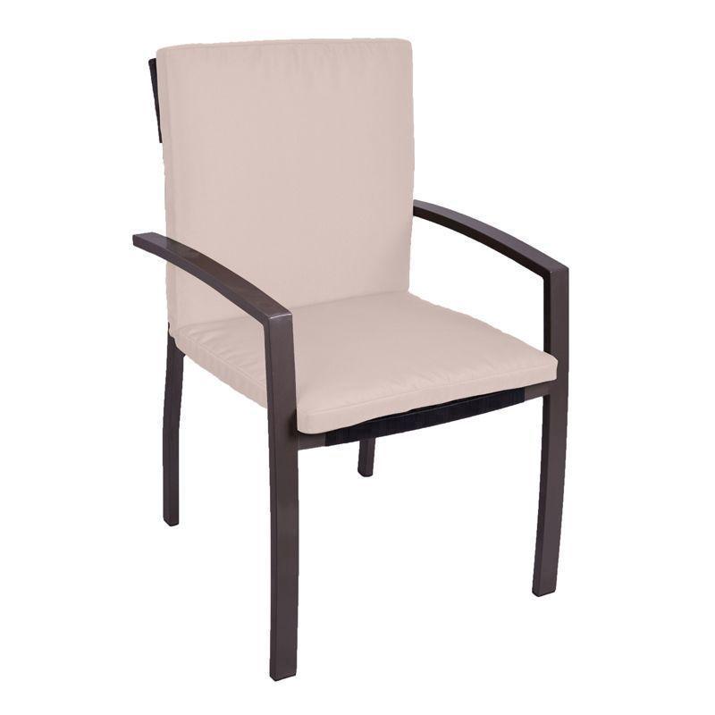 Garden Furniture Qd garden furniture mid-back cushion (cream) - buy online at qd stores