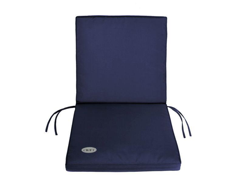 Garden Furniture Qd garden furniture mid-back cushion [blue - buy online at qd stores