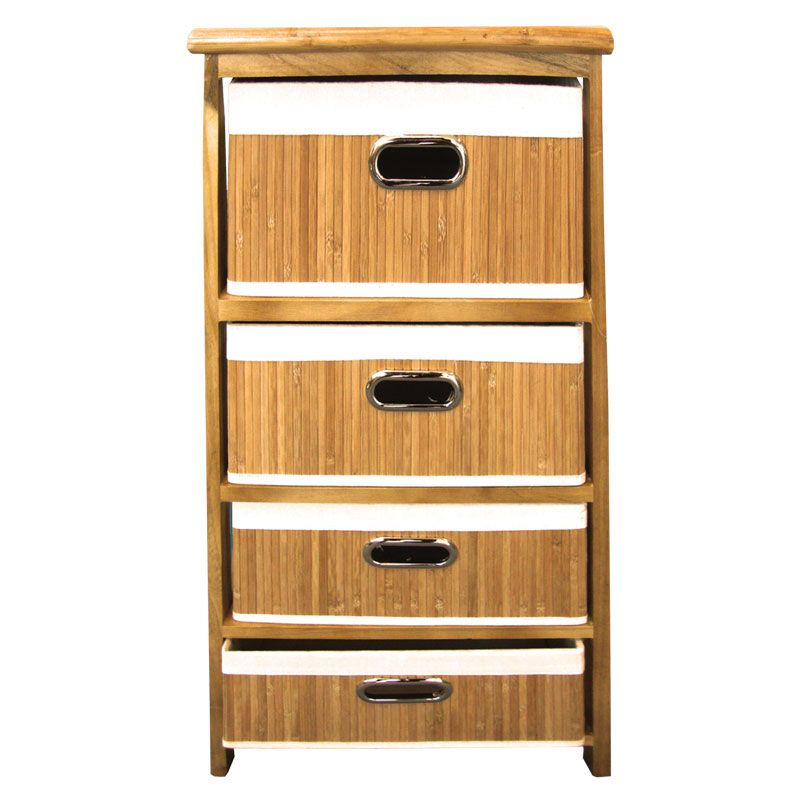 4 Bamboo Drawer Unit