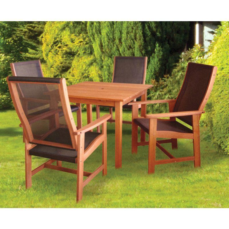 Garden Furniture Qd dalbeattie textilene garden table and chair set - buy online at qd