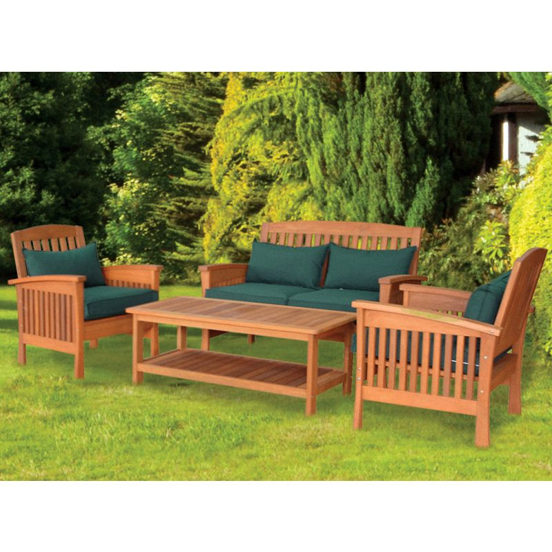 Darwin 4 piece table chair garden set buy online at qd for Outdoor furniture darwin