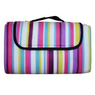 See more information about the Fleece Picnic Blanket 125cm x 150cm (Multicolour)