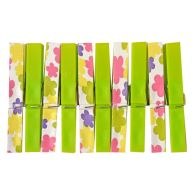 See more information about the Your Home Colourful Clothes Pegs (Pack of 20) - Green Flowers